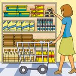 Grocery Shopping for food clipart