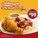 Chickenjoy with Jolly Spaghetti