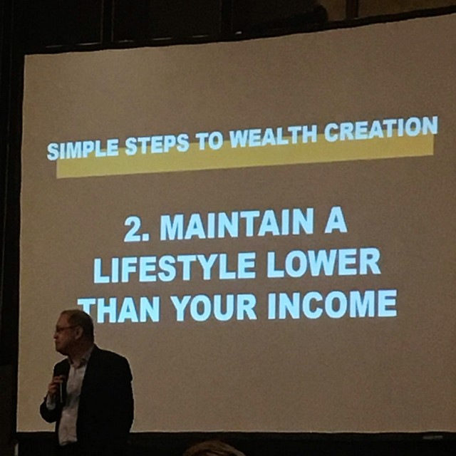 Maintain a lifestyle lower than your income.