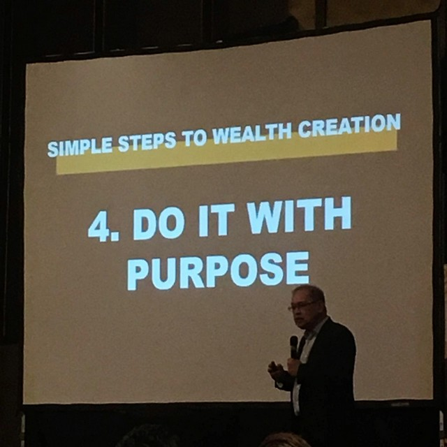 Do it with a purpose.