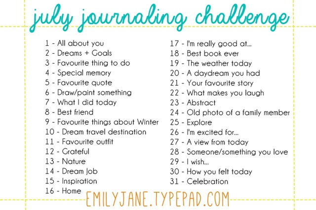 July Journaling Challenge