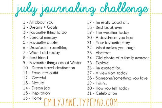 July Journaling Challenge