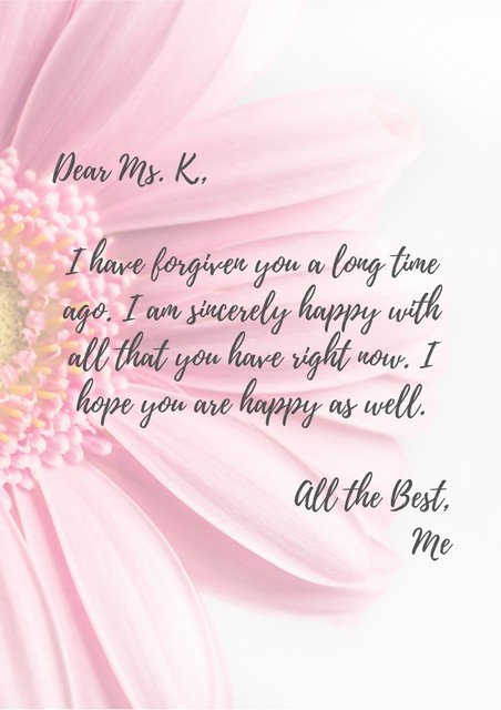 letter of forgiveness